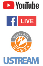 Easily Webcast to Youtube, Facebook, Wowza, Ustream with Monarch HD