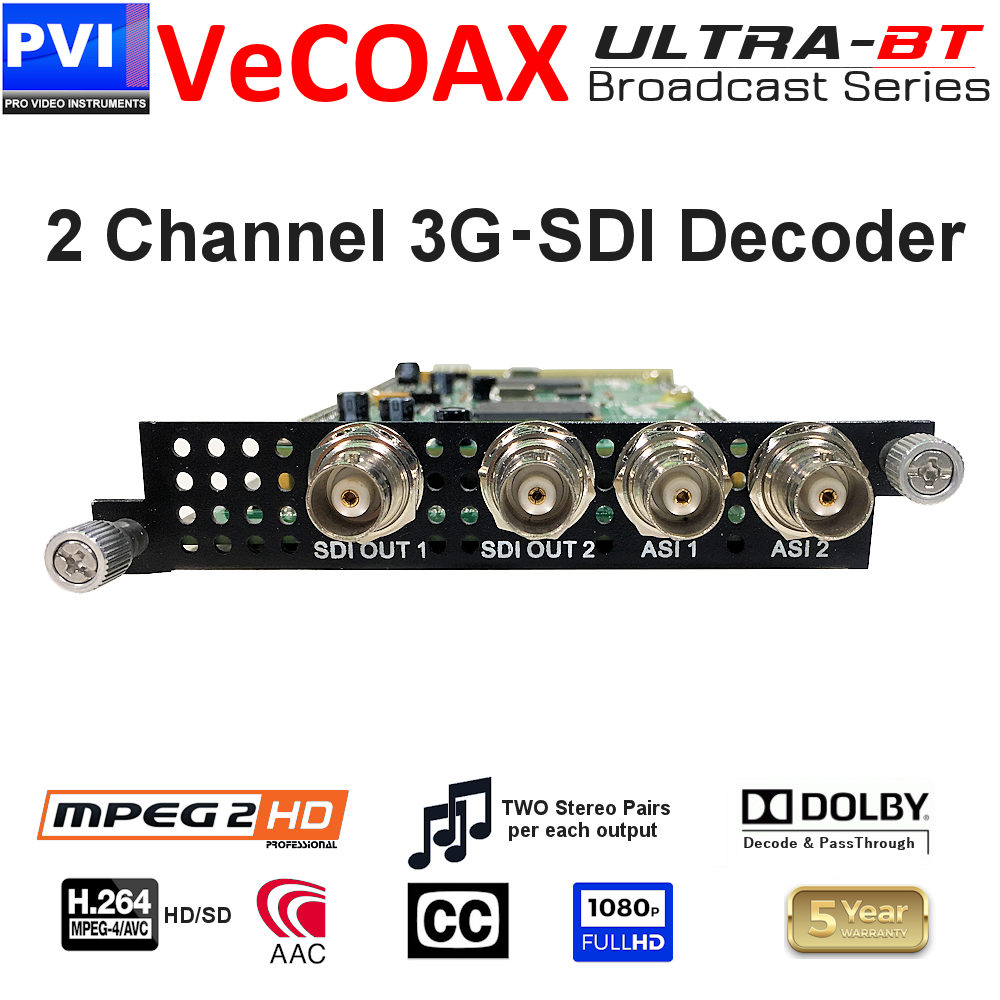 vecoax ultra-bt 2 channel 3g sdi decoder