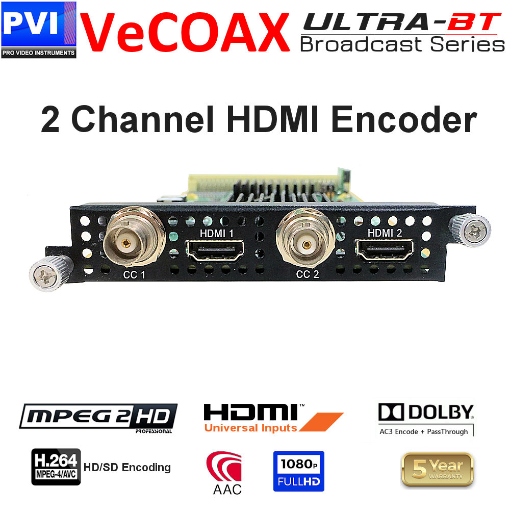 vecoax ultra-bt 2 channel hdmi encoder