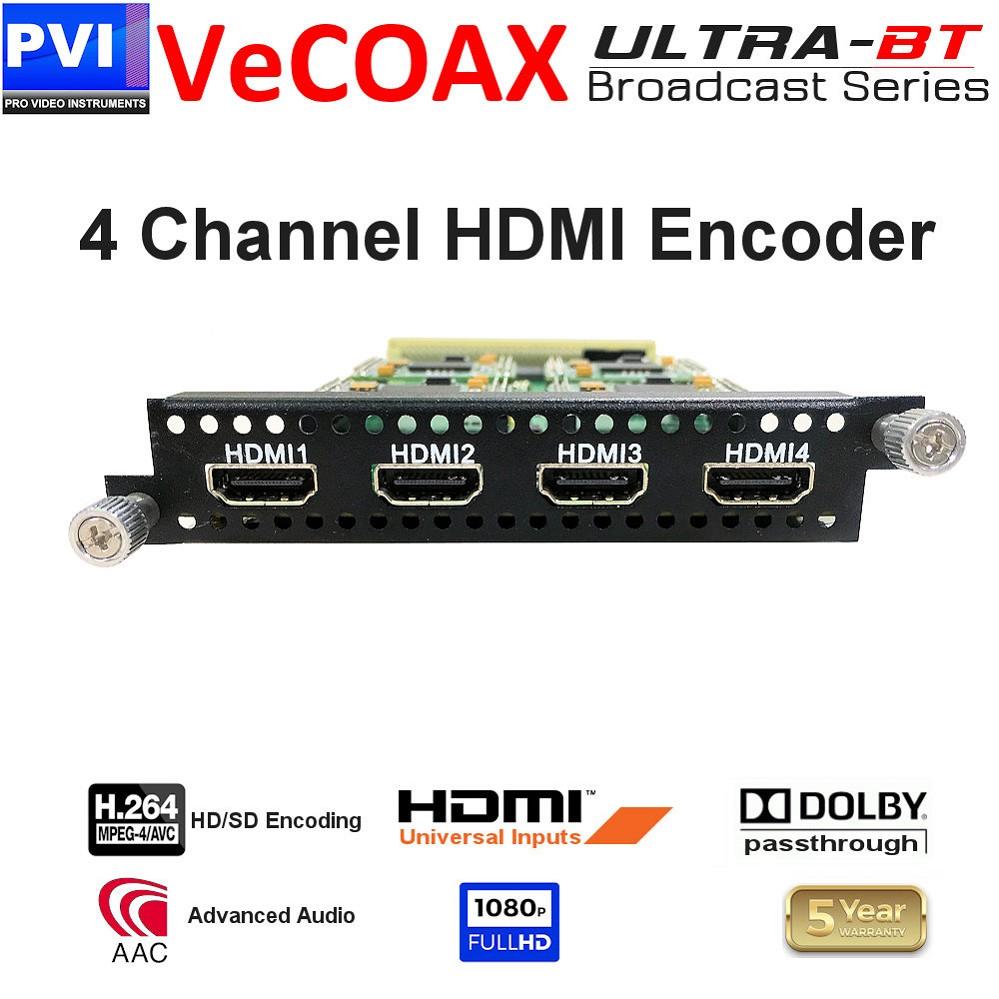 vecoax ultra-bt 4 channel hdmi encoder