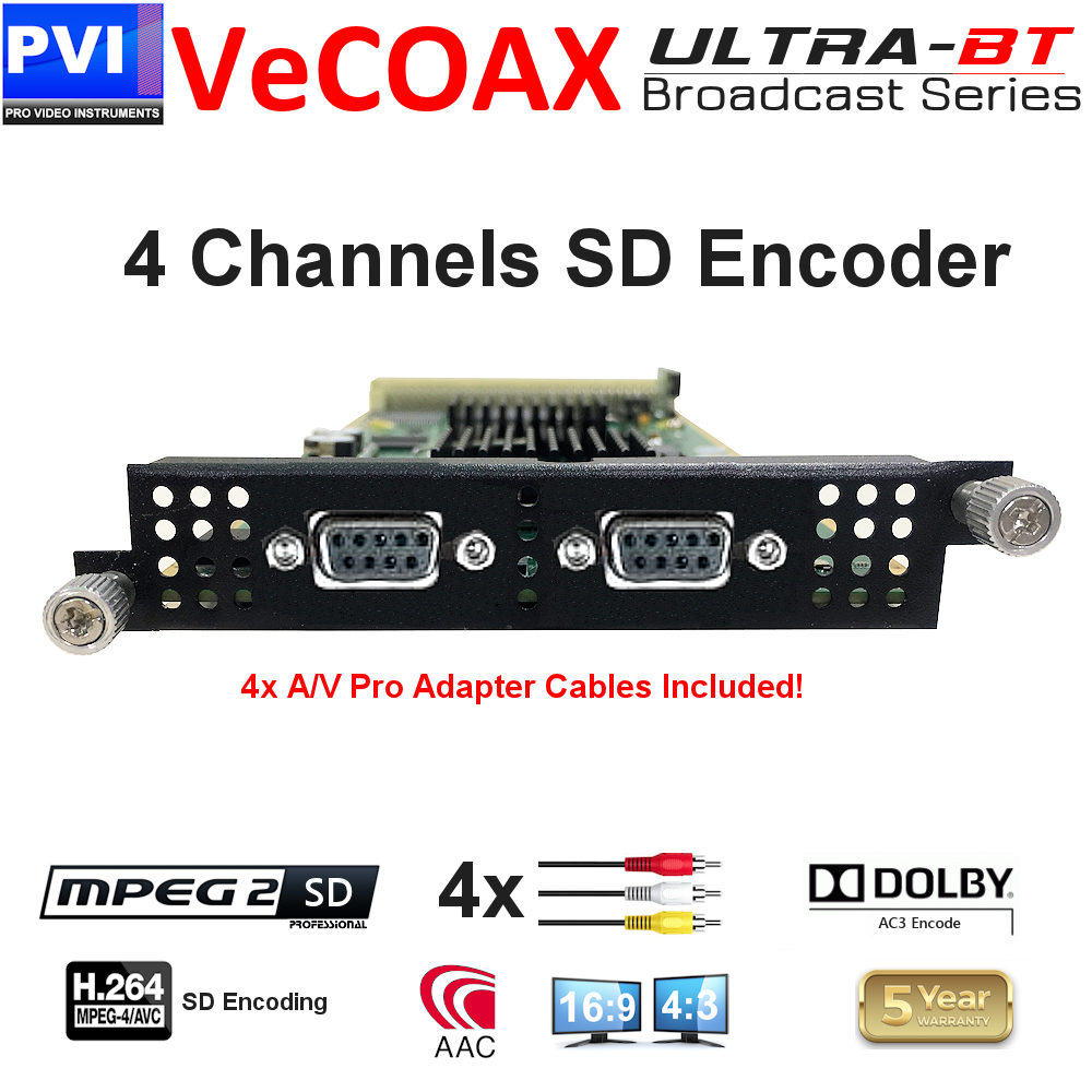 vecoax ultra-bt 4 channels sd encoder