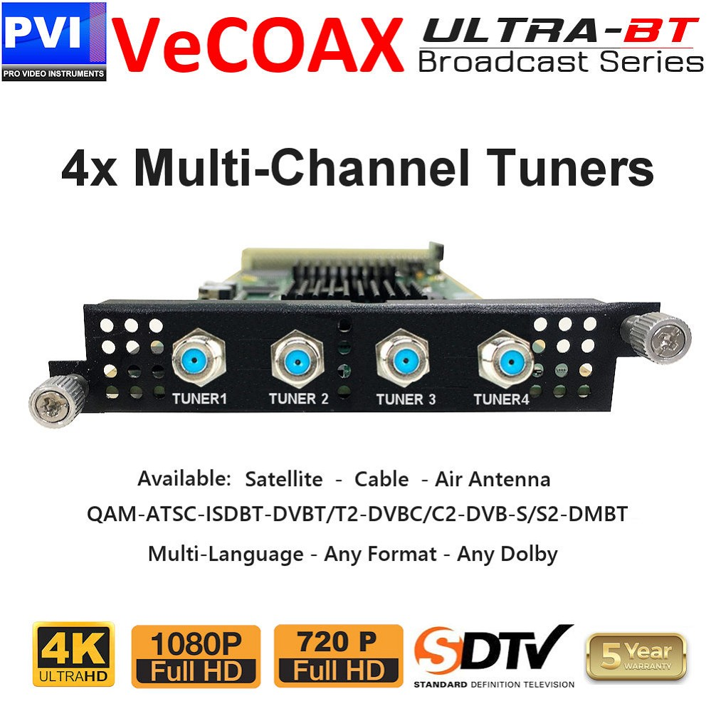 vecoax ultra-bt 4x multi channel tuners