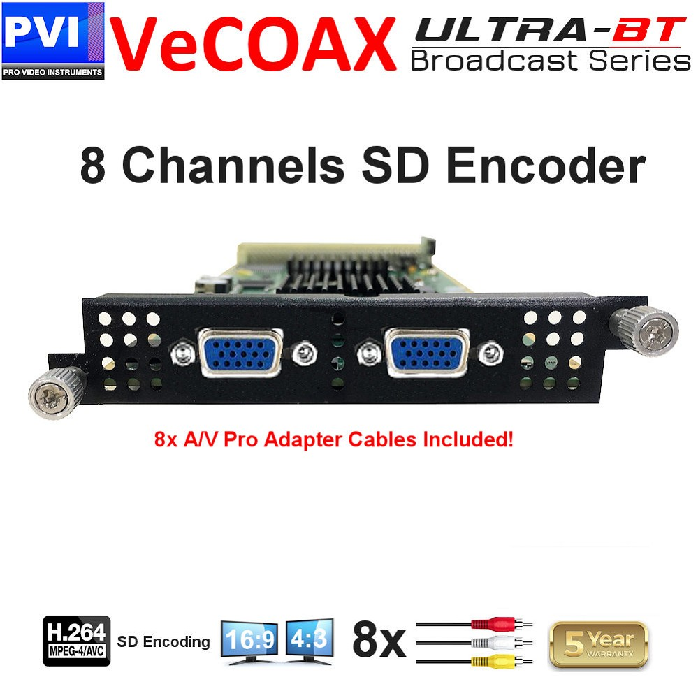 vecoax ultra-bt 8 channels sd encodr