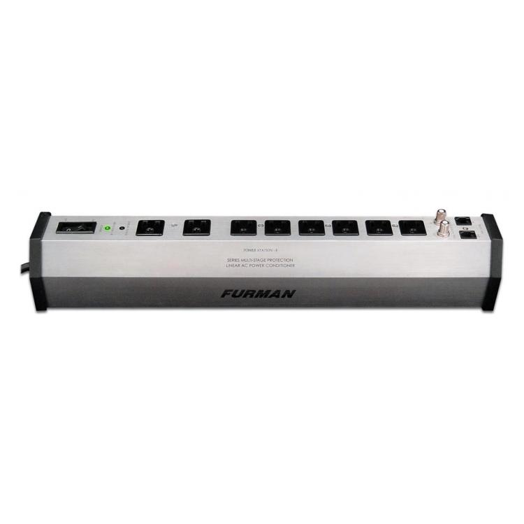 15A 8 Outlet Surge Suppressor Strip w/SMP, LiFT and EVS