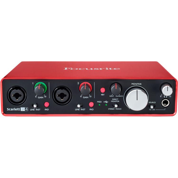 focusrite scarlett 2i4 usb audio interface 2nd generation centurion usa corp. Black Bedroom Furniture Sets. Home Design Ideas